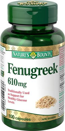 Nature's Bounty Fenugreek 610 mg