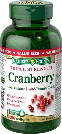 Nature's Bounty Triple Strength Cranberry Concentrate with Vitamin C & E