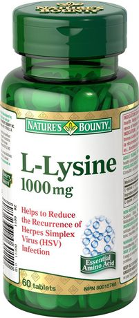 Nature's Bounty L-Lysine 1000 mg
