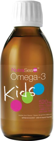 NutraSea Kids Omega-3 + Vitamin D Liquid - Bubble Gum