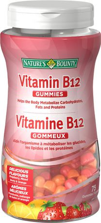 Nature's Bounty Vitamin B12 250 mcg Gummies - Mixed Berry & Fruit