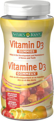 Nature's Bounty Vitamin D Gummies - Strawberry, Orange & Lemon