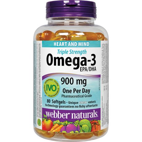 Webber Naturals Triple Strength Omega-3 EPA/DHA 900 mg