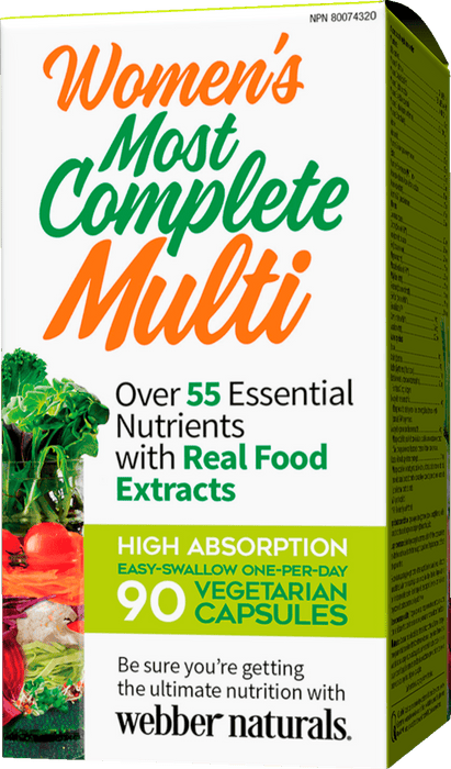 Webber Naturals Women's Most Complete Multi Vegetarian Capsules