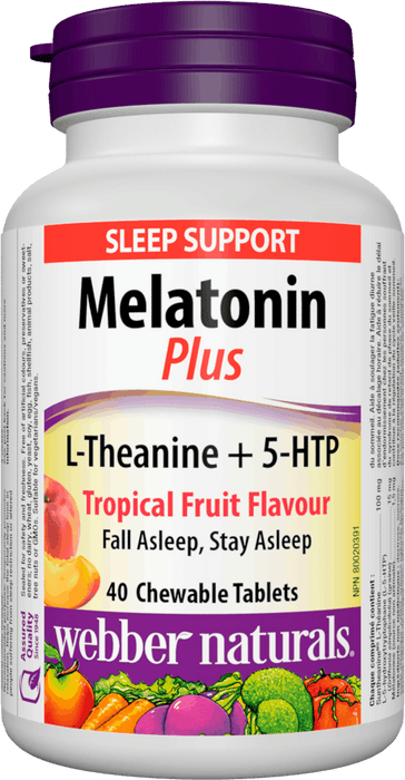 Webber Naturals Melatonin Plus with L-Theanine and 5-HTP
