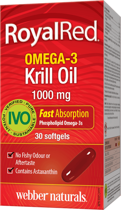 Webber Naturals Royal Red Krill Oil 1,000 mg Softgels