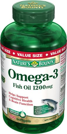 Nature's Bounty Omega-3 Fish Oil Softgels