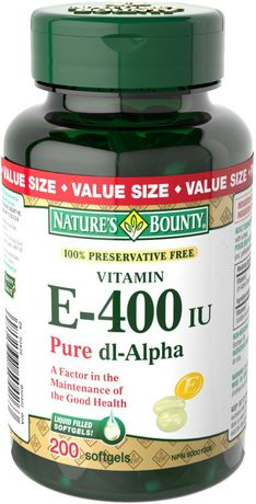 Nature's Bounty 100% Preservative Free Vitamin E 400 IU
