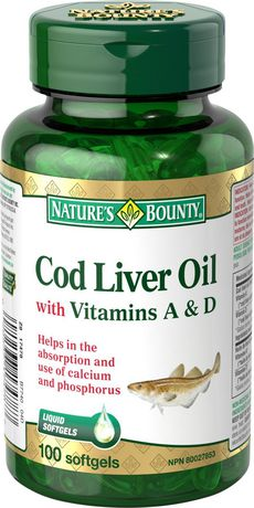Nature's Bounty Cod Liver Oil with Vitamins A&D