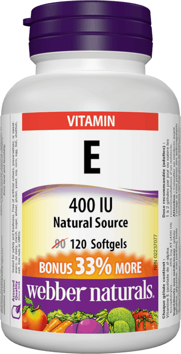 Webber Naturals Vitamin E Natural Source 400 IU
