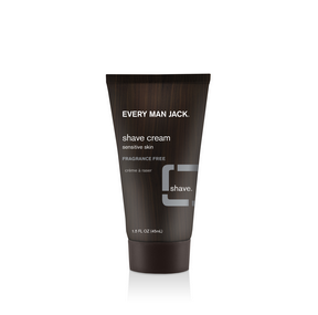 Every Man Jack Travel Shave Cream for Sensitive Skin - Fragrance Free