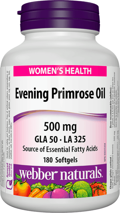 Webber Naturals Evening Primrose Oil 500mg