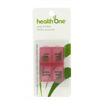 Health ONE Pill Box with 4 Compartments (morning/noon/evening/bedtime)