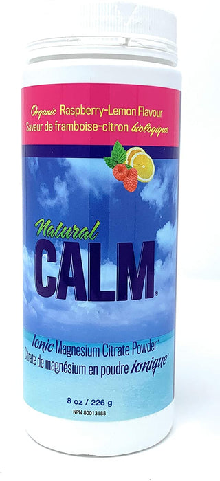 Natural Calm Magnesium Citrate Powder - Raspberry-Lemon