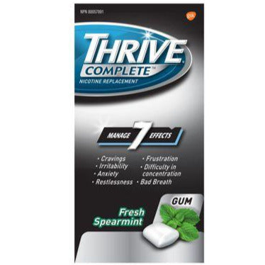 Thrive Complete 4mg Nicotine Replacement Gum Fresh Spearmint