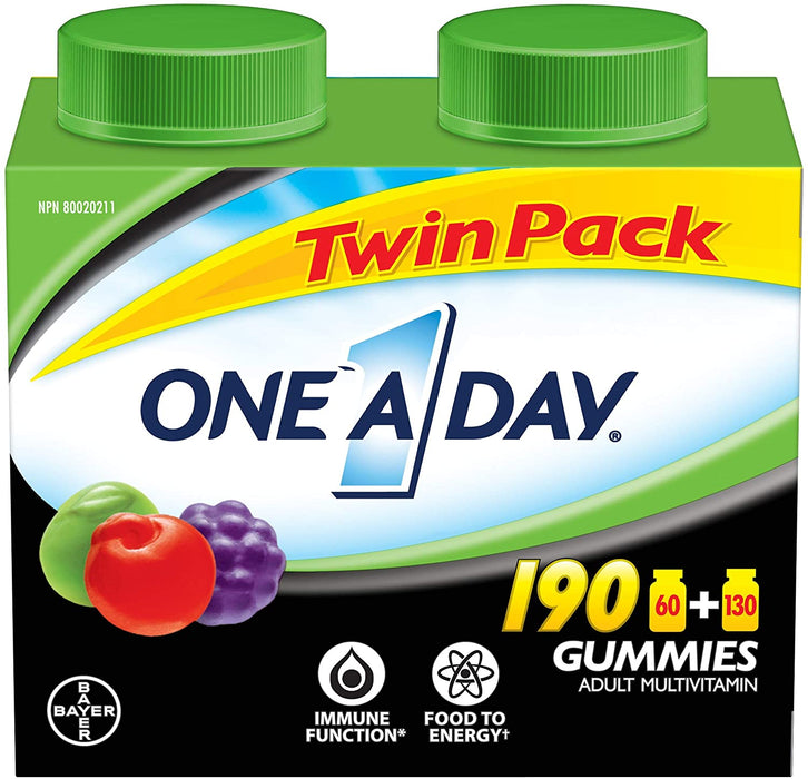 One a Day Gummies Adult Multivitamin Twin Pack
