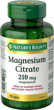 Nature's Bounty Magnesium Citrate 210 mg