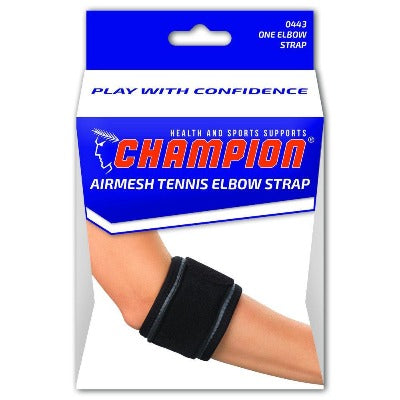 Tennis Elbow Strap Black,Large