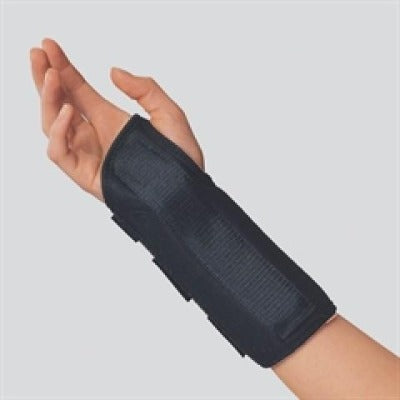 "Otc 8"" Maximum Wrist Splint Medium (6.5""-7.5"") Right Side Black Latex-Free"