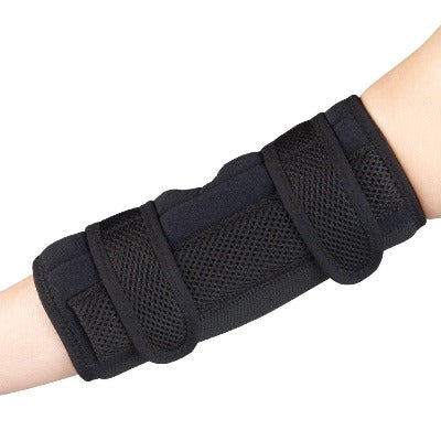 "Otc Elbow Night Splint Maximum Support Small (7.75""X9.75"") Black Latex Free Dual Straps"