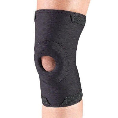 "Ea/1 Otc Knee Support (Minimum) W/ Stabilizer Pad Black  Medium(14""-15.25"") Latex-Free"