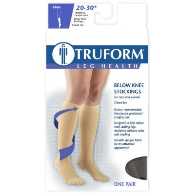 Truform 20-30 Below-Knee Black Large