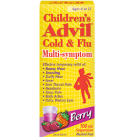 Children's Advil Cold & Flu Multi-Symptom Suspension - Berry