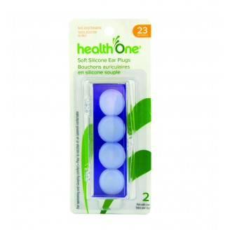Health ONE Soft Silicone Ear Plugs with Case