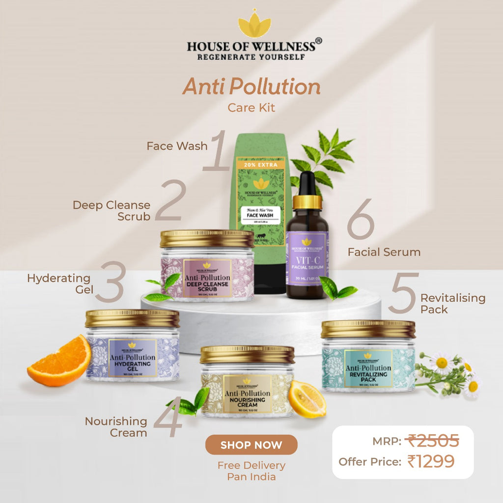 Anti Pollution Kit with Facial Serum - Combo 6 Products