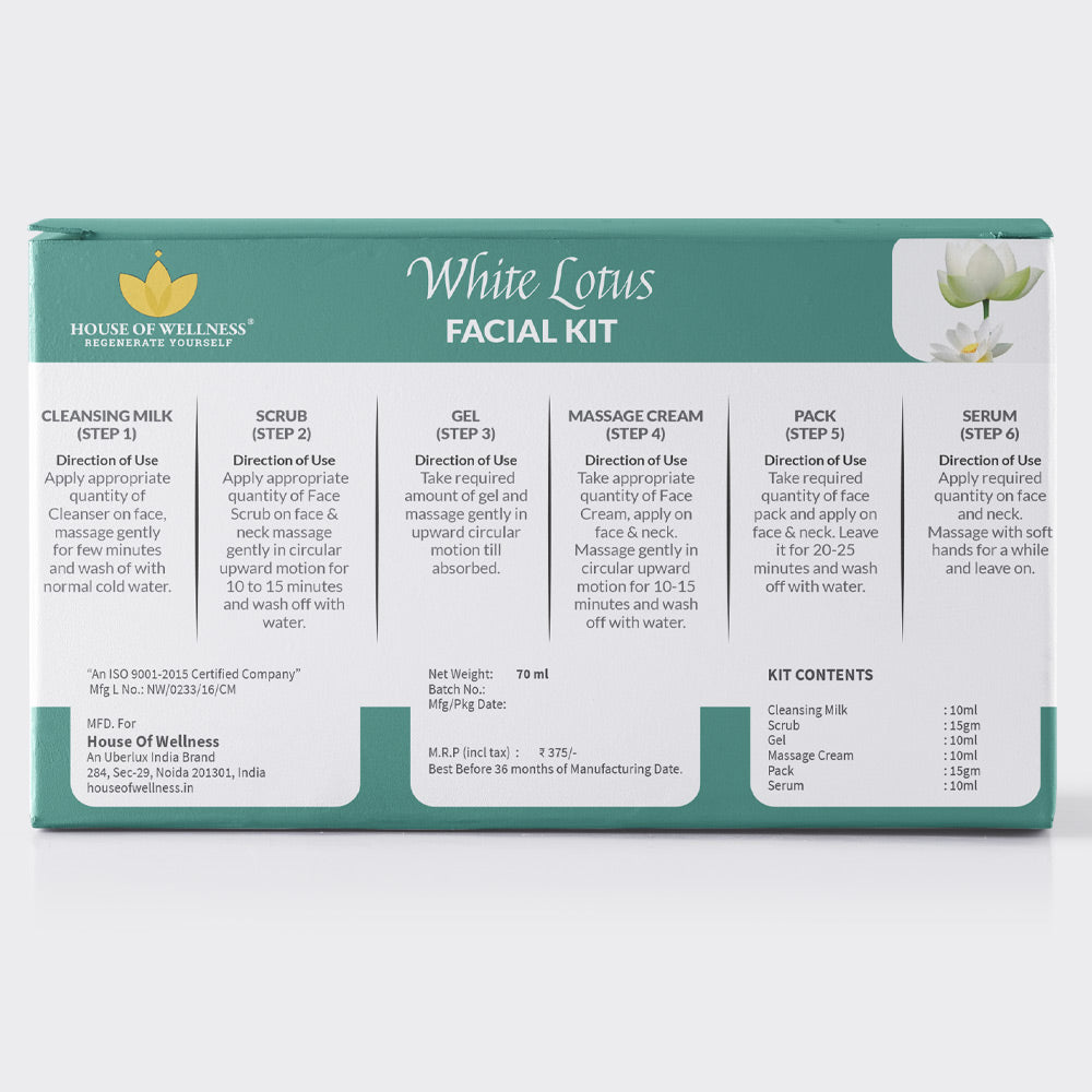 White Lotus Facial Kit - 70 ml