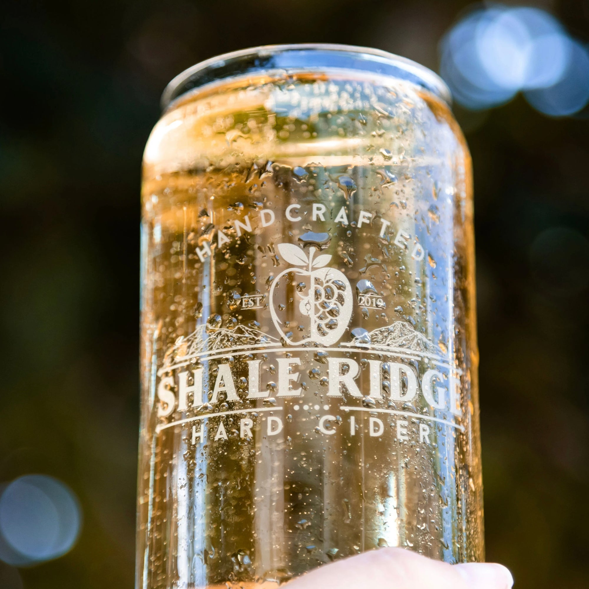 Shale Ridge Cider Can Glass