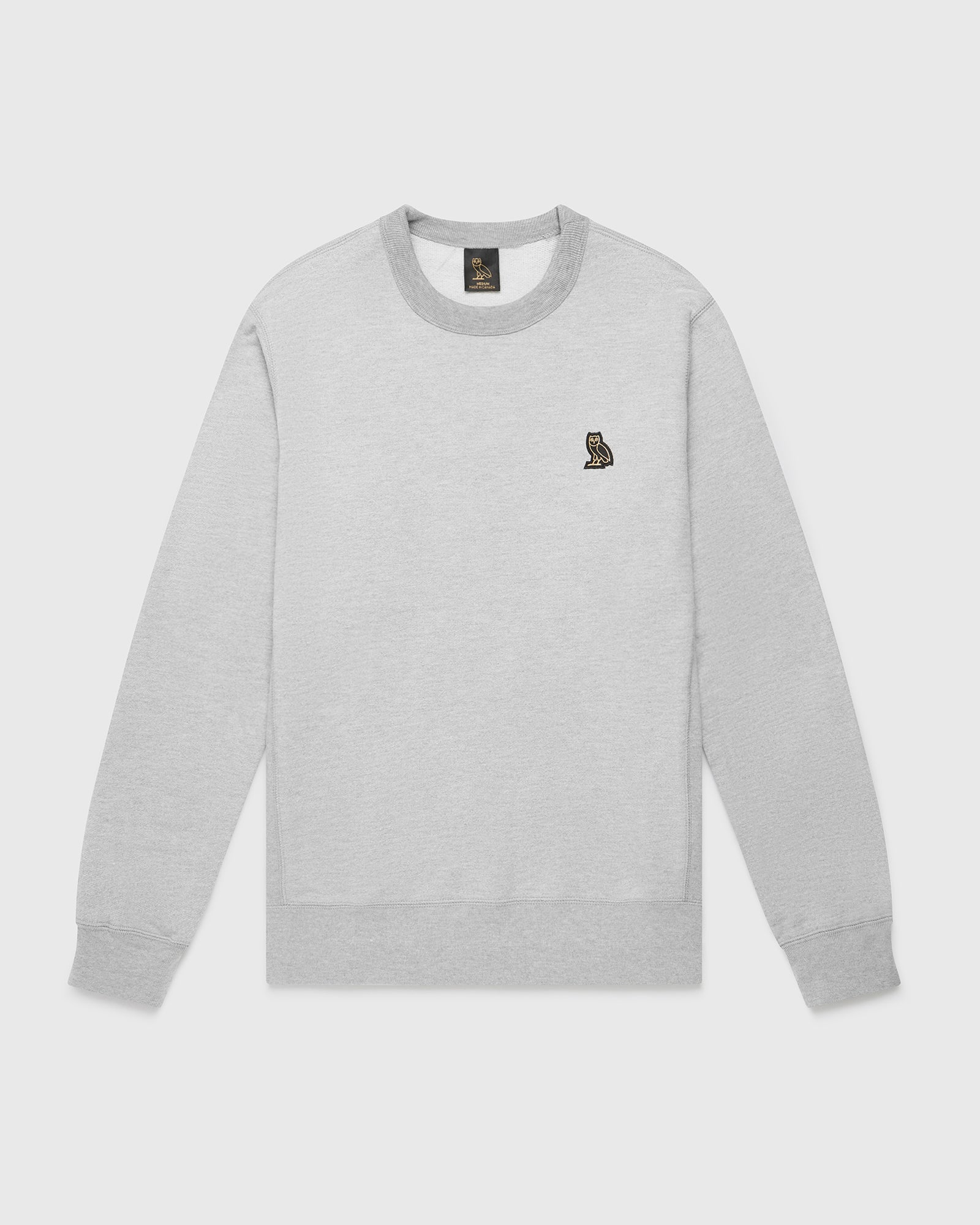 OVO ESSENTIALS CREW - HEATHER GREY IMAGE #1
