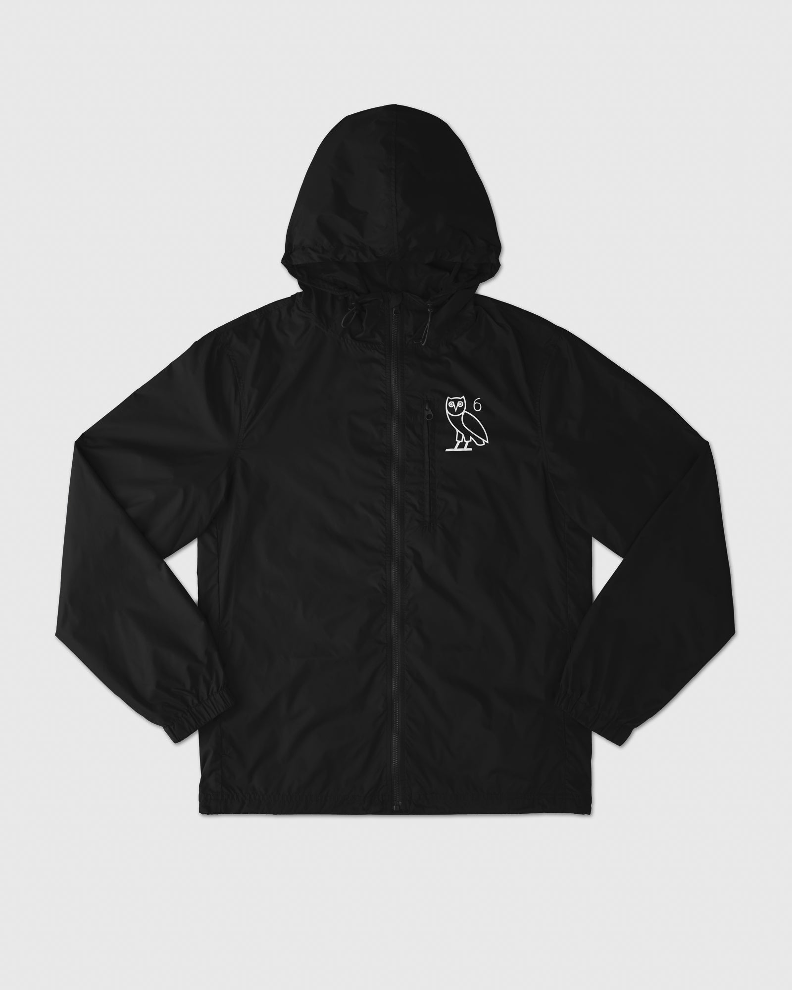 6 OWL PACKABLE WINDBREAKER - BLACK IMAGE #1