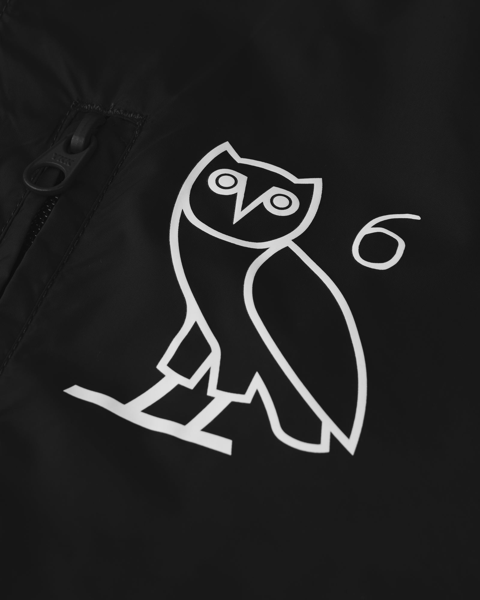 6 OWL PACKABLE WINDBREAKER - BLACK IMAGE #2