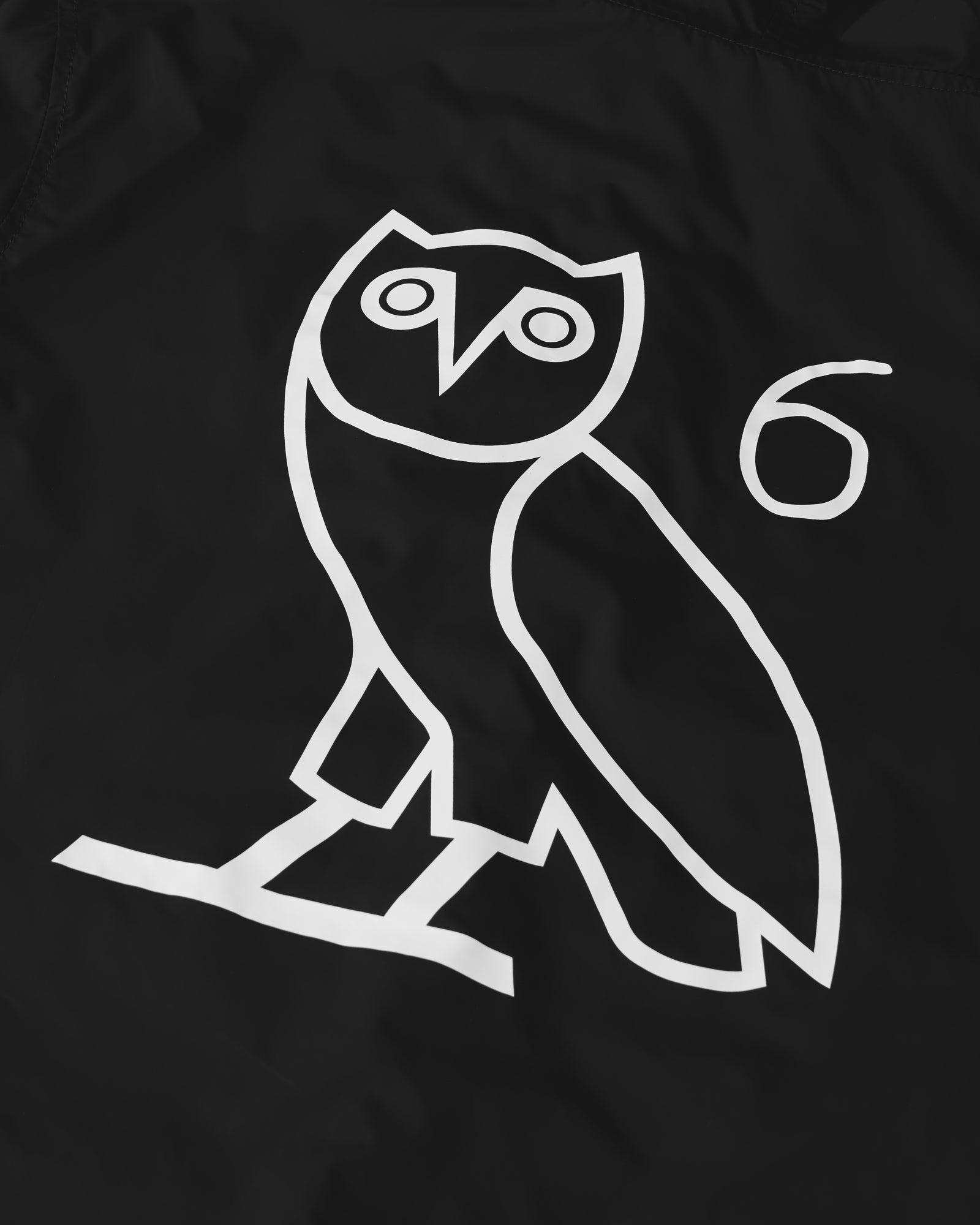 6 OWL PACKABLE WINDBREAKER - BLACK IMAGE #3