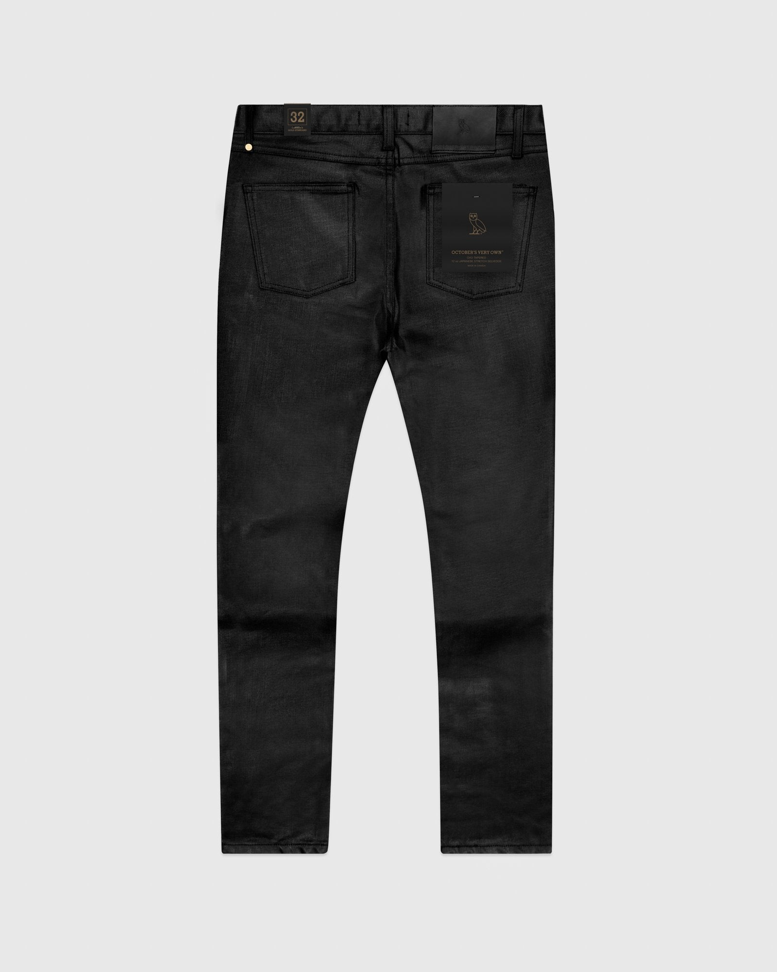WAXED JEANS - BLACK IMAGE #3