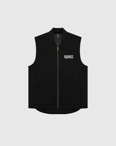 OCTOBER CANVAS VEST - BLACK