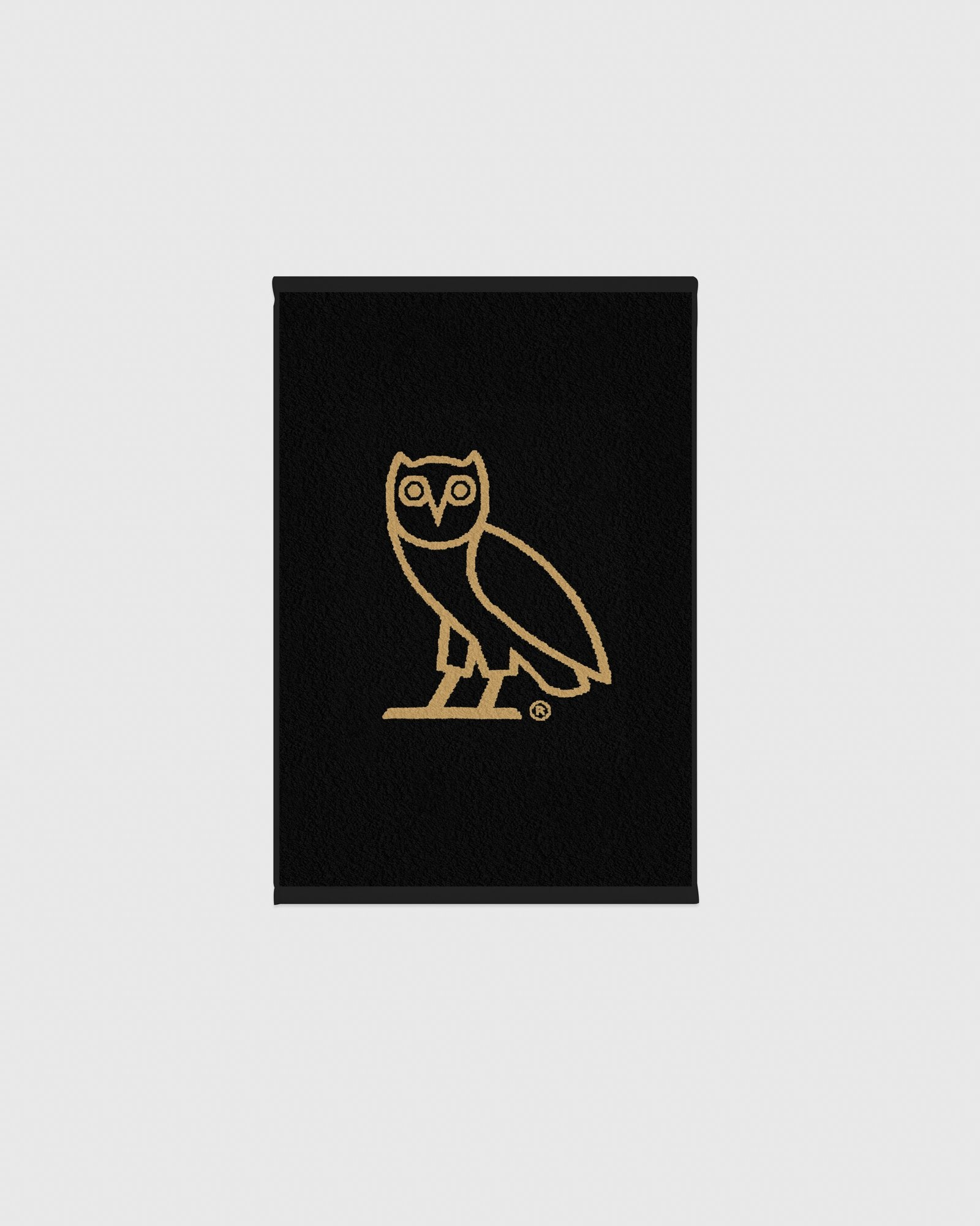 OVO OWL PERSONAL TOWEL - BLACK/GOLD IMAGE #1