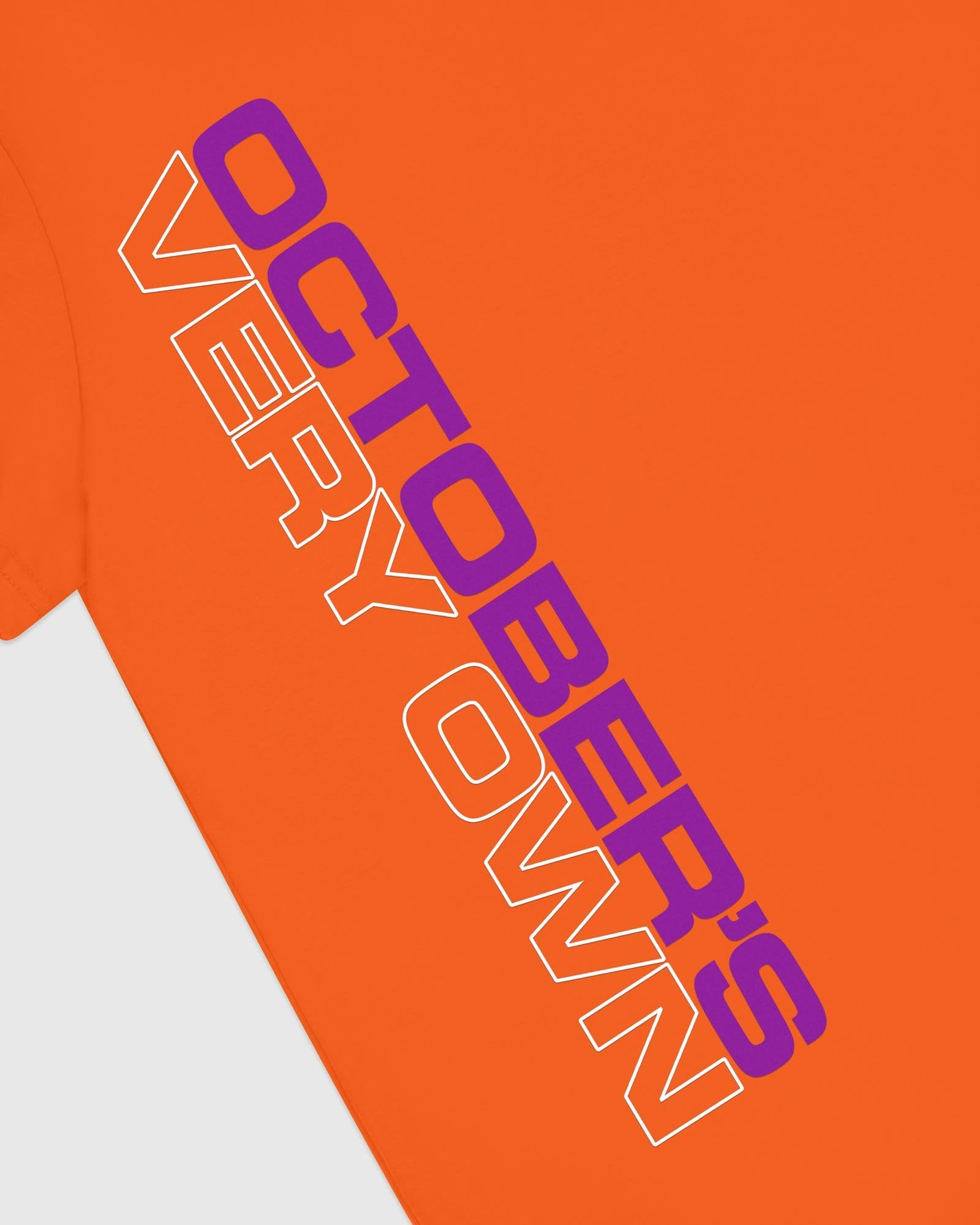 OCTOBER OUTLINE T-SHIRT - ORANGE IMAGE #4