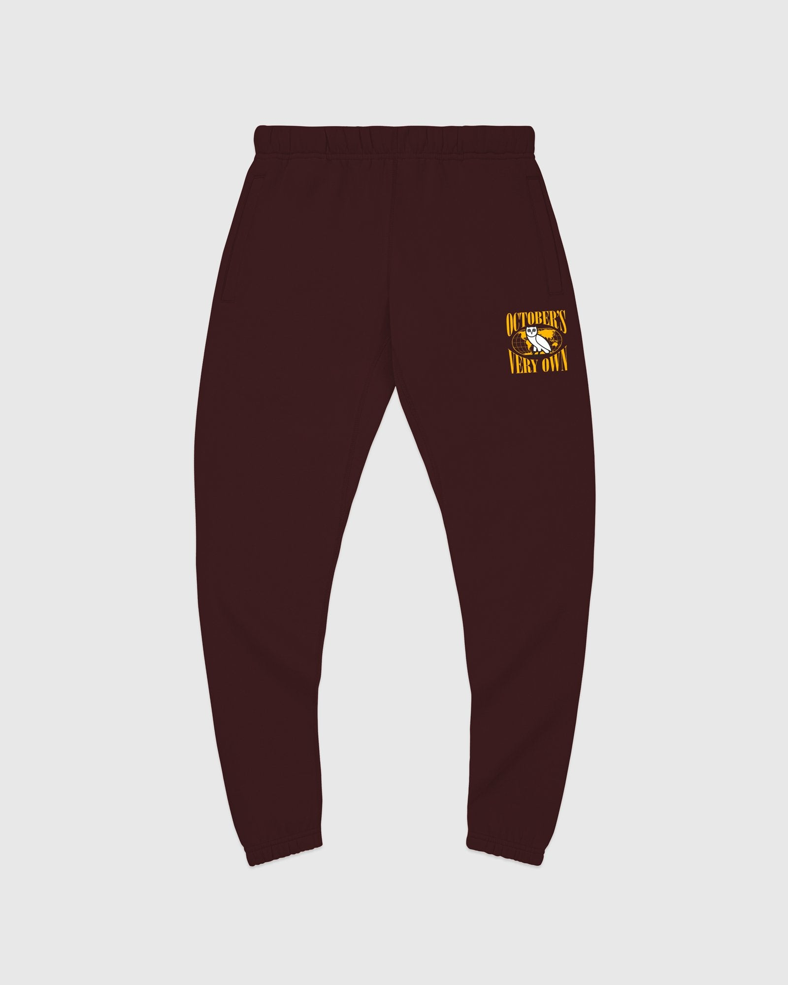 WORLD TOUR SWEATPANT - BURGUNDY IMAGE #1
