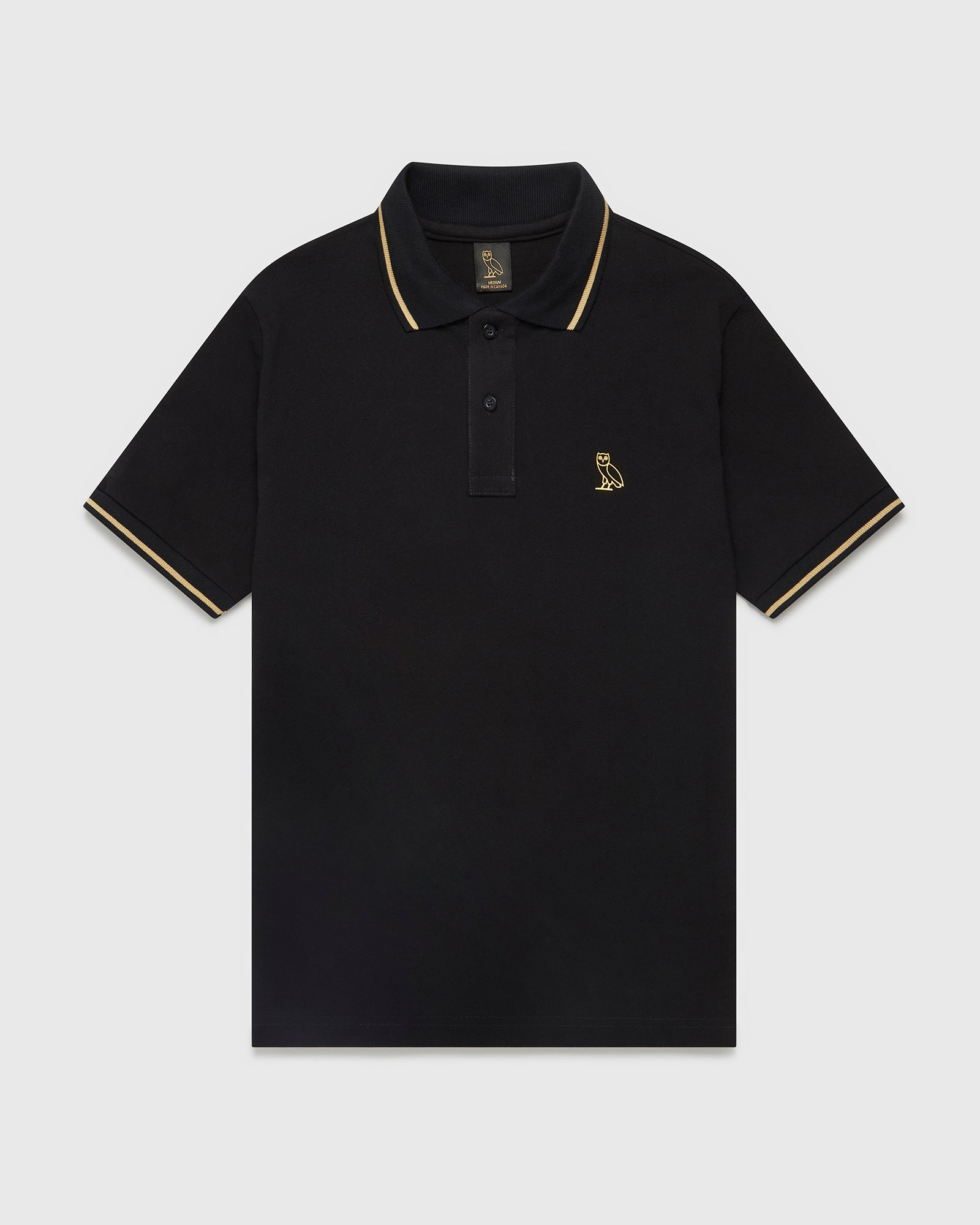 OVO ESSENTIALS POLO - BLACK IMAGE #1