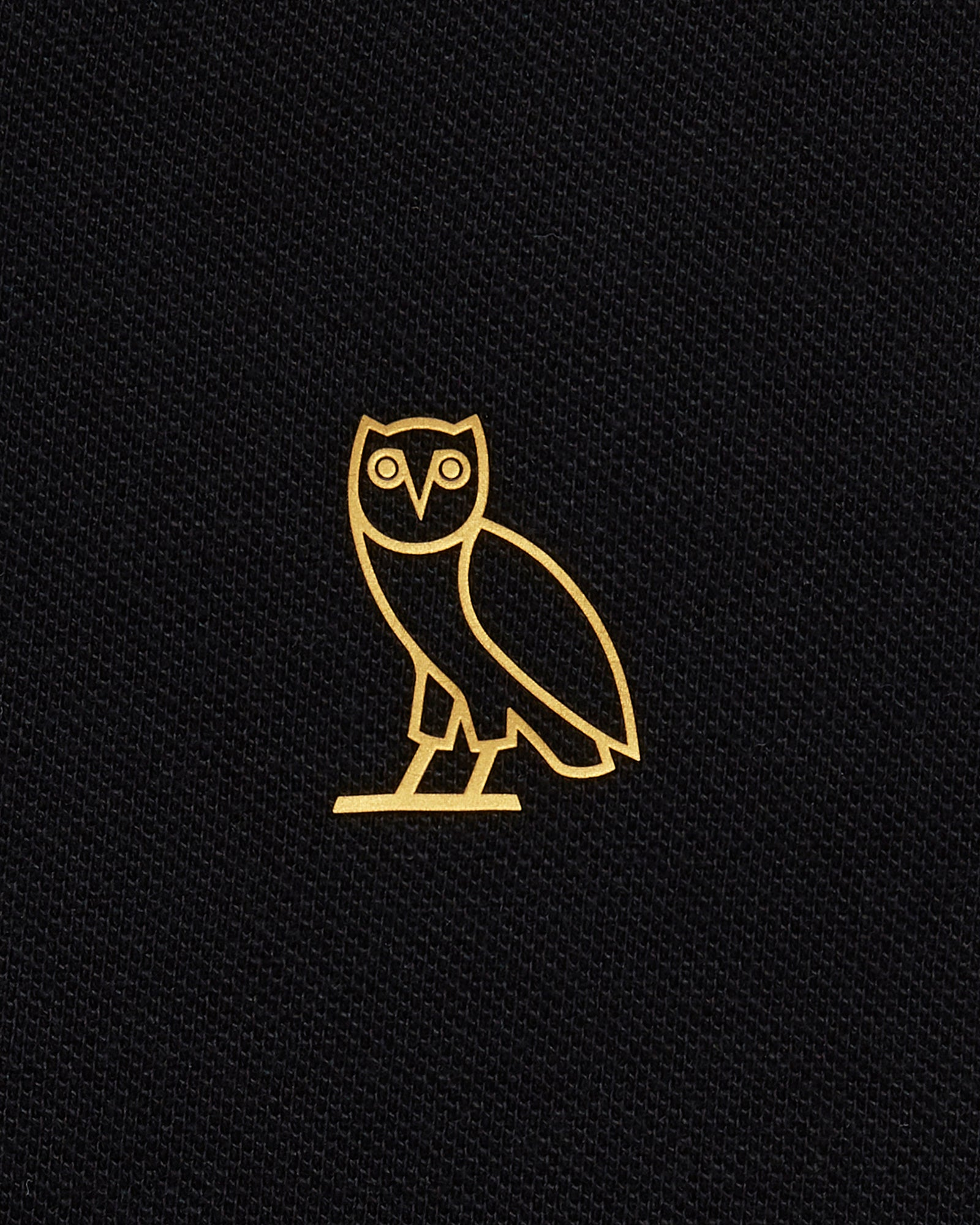 OVO ESSENTIALS POLO - BLACK IMAGE #3