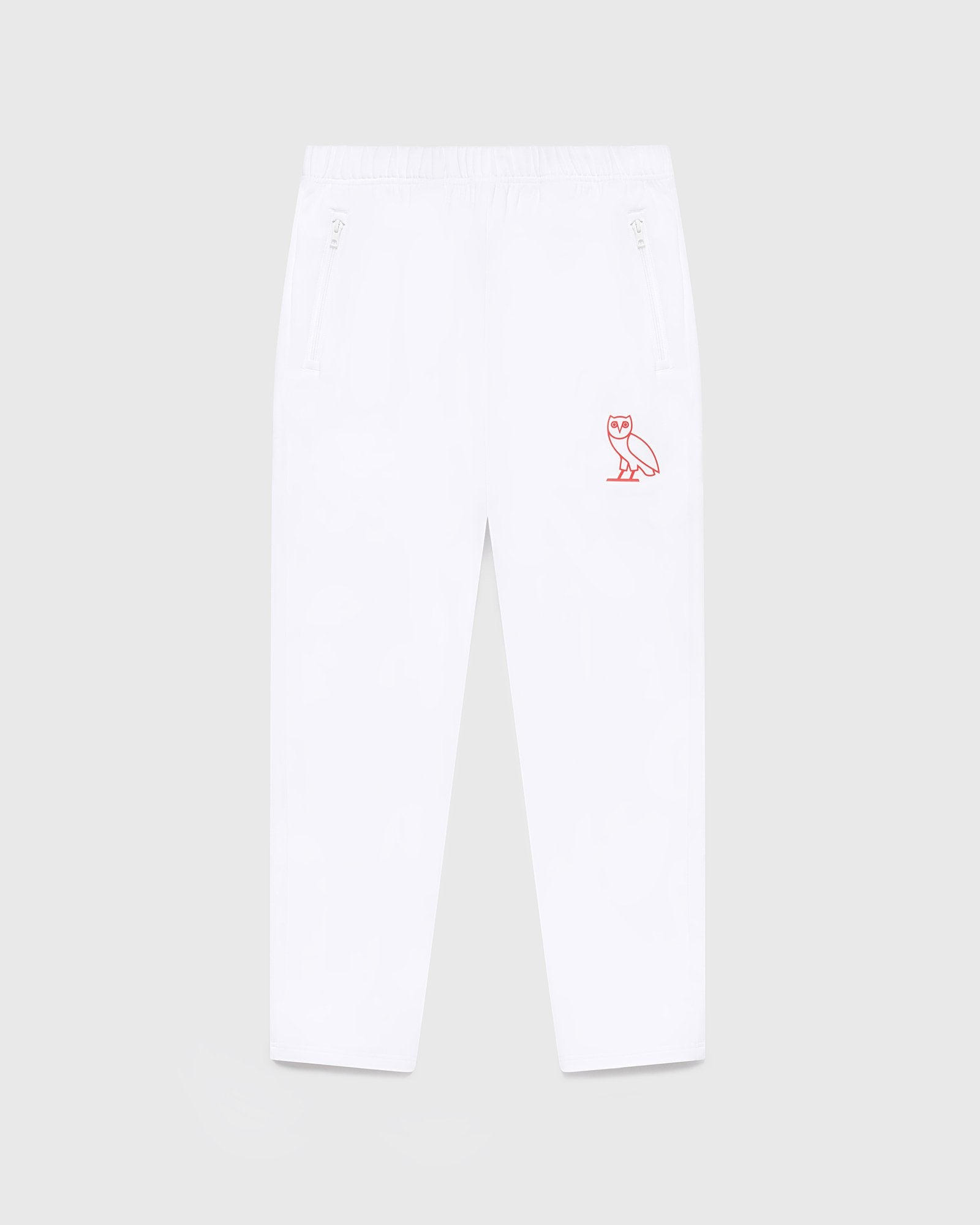 DOUBLE KNIT TRACK PANT - WHITE IMAGE #1