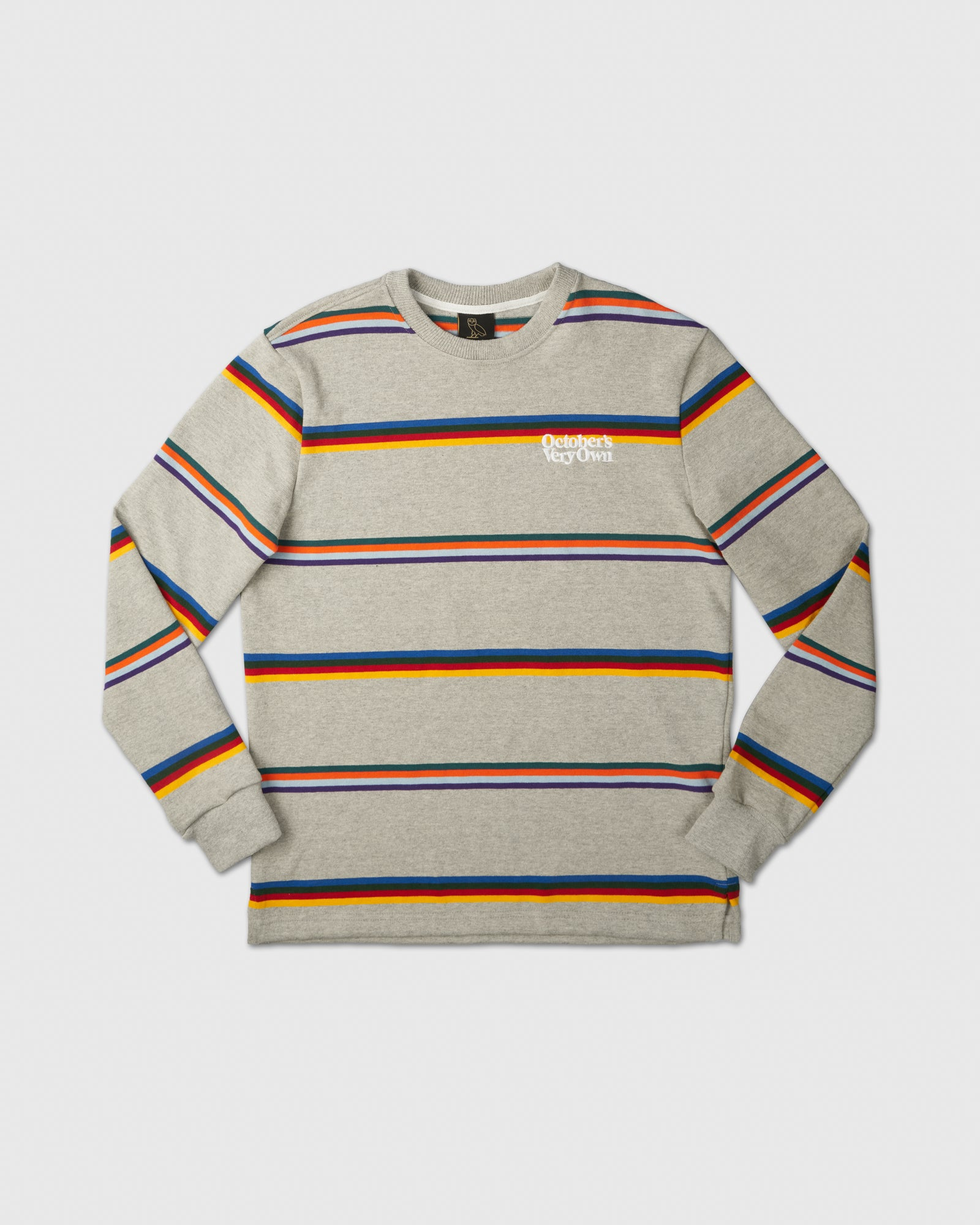 FAMILIA STRIPED CREWNECK - HEATHER GREY IMAGE #1