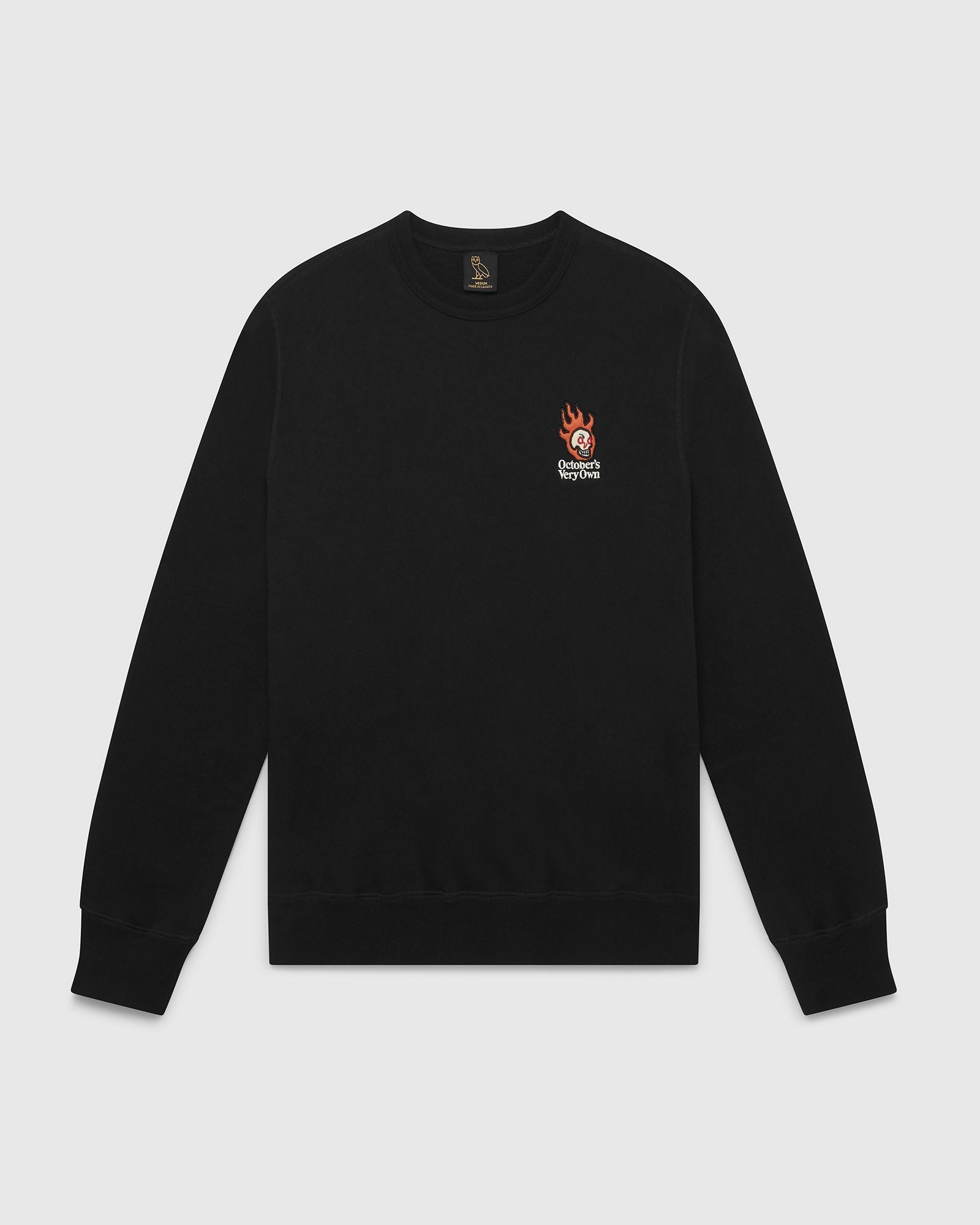 OVO HOT SKULLS™ CREWNECK - BLACK IMAGE #1