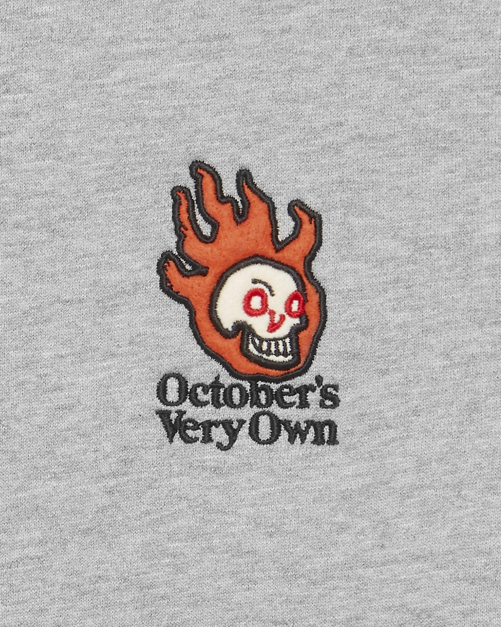 OVO HOT SKULLS™ CREWNECK - HEATHER GREY IMAGE #3
