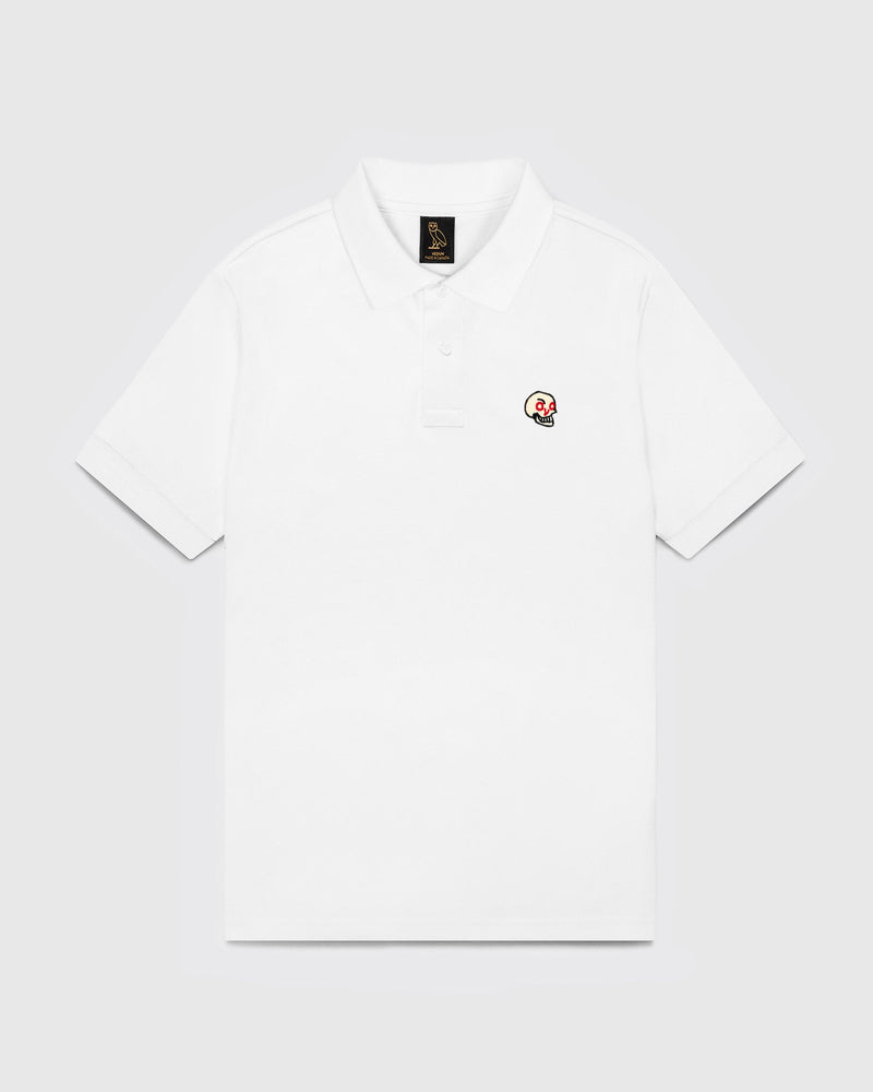 OVO HOT SKULLS™ POLO - WHITE