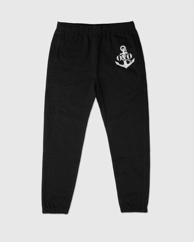 NAUTICAL INDIGO FLEECE SWEATPANT - BLACK