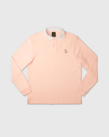 INTERLOCK LONGSLEEVE POLO - PINK