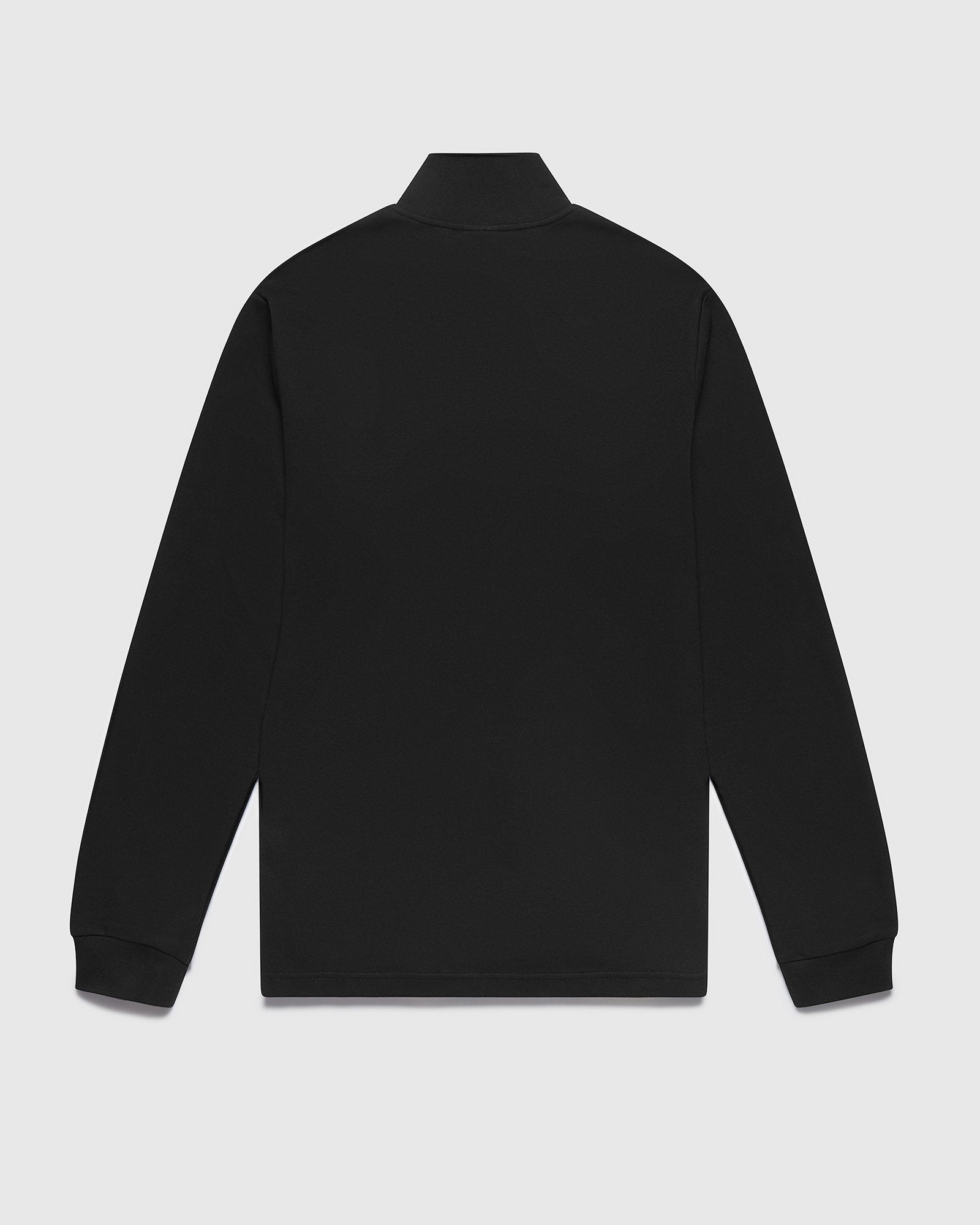 INTERLOCK 1/4 ZIP MOCK NECK - BLACK IMAGE #2